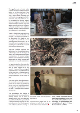 Page from article about Terrae exhibition from First Magazine