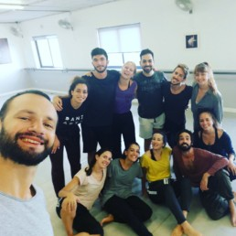 Right: Flo with Moveo Dance Company